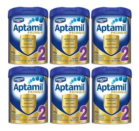 6 Latas Aptamil Premium 2 800g - Promoção!