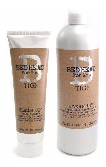 Kit Tigi Clean Up Men Shampoo 250ml + Acondicionador 750ml