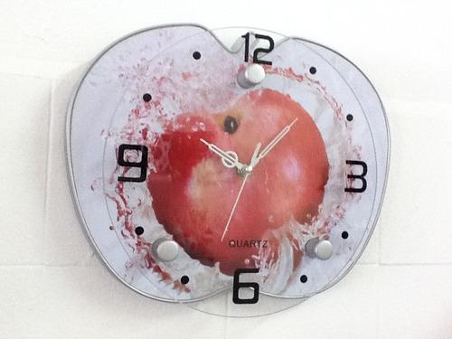 Imagem 1 de 1 de Relógio De Parede Modelo Maçã Vermelho 0008 1 Chav De Brinde