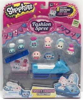 Juguete Muñeca Shopkins Fashion Spree X8 Accesorios Modelos