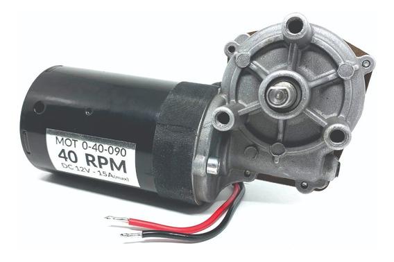 Motor Com Redução Dc 12v 40rpm Alto Torque Motor 12v 40 Rpm