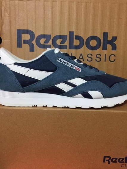 Tênis Reebok Classic Cl Nylon Original Azul/branco Masculino