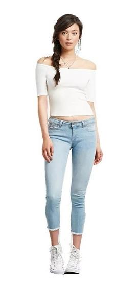 Jeans Skinny Deshilachados Cortos Forever 21 Talla 27 Nuevo
