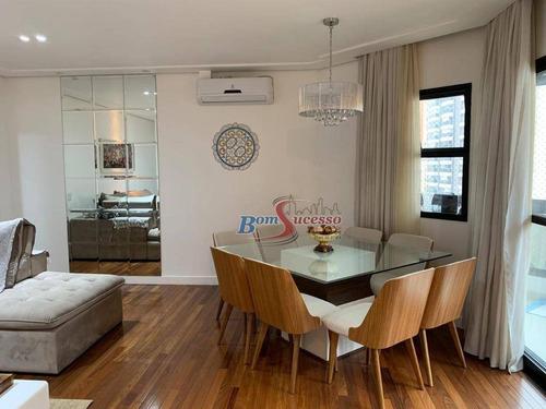 Imagem 1 de 19 de Apartamento Com 3 Dormitórios À Venda, 125 M² Por R$ 1.160.000,00 - Jardim Anália Franco - São Paulo/sp - Ap2864
