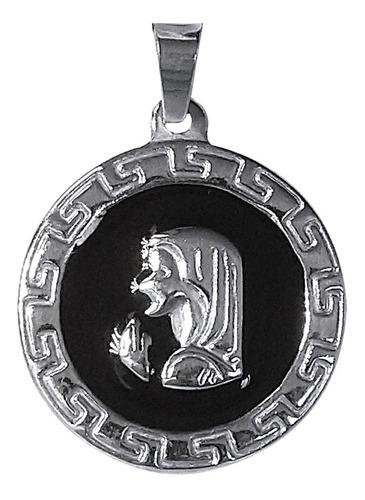 Imagen 1 de 2 de Medalla Dije Virgen Niña Esmaltada Acero Quirúrgico