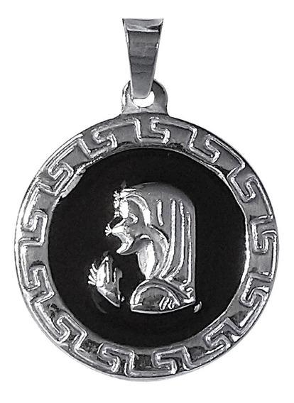 Medalla Dije Virgen Niña Esmaltada Acero Quirúrgico