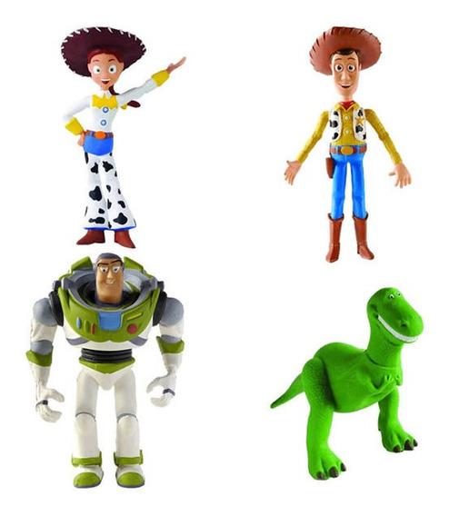 Kit 4 Brinquedos Toy Story 3 Em Látex - Latoy