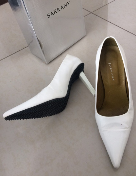Zapatos Mujer Stiletos Sarkany-talle 39/40 Blanco-impecable
