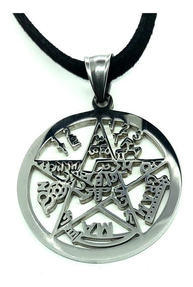 Colar Pingente Tetragrammaton Pentagrama Salomão Wicca Stlr3