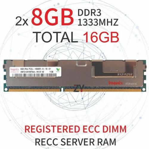 02 Memória 8gb Ddr3 Pc3l-10600r Servidor Dell Hp Ibm Ecc Reg