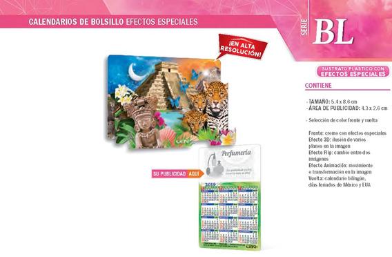 2000 Calendario Promocional D Bolsillo Cn Efectos Especiales