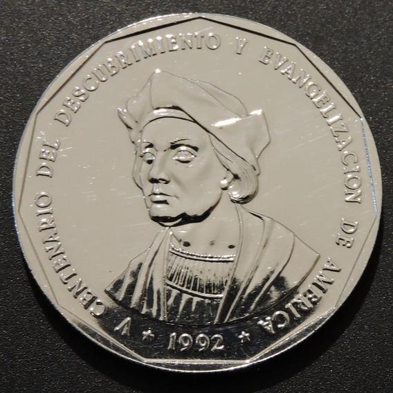 República Dominicana 1 Peso Cristóbal Colón