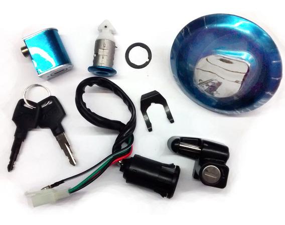 Kit Chave Ignição Cg 125 Titan 2000 Até 2001 Completo 4 Fios