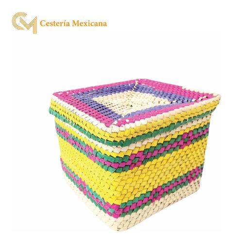 Imagen 1 de 3 de Caja Cuadrada De Palma Grande