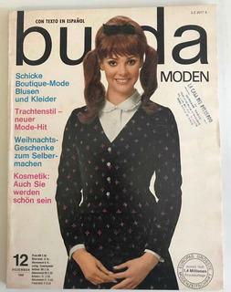 Revista Burda Moden Diciembre 1966 Con Moldes