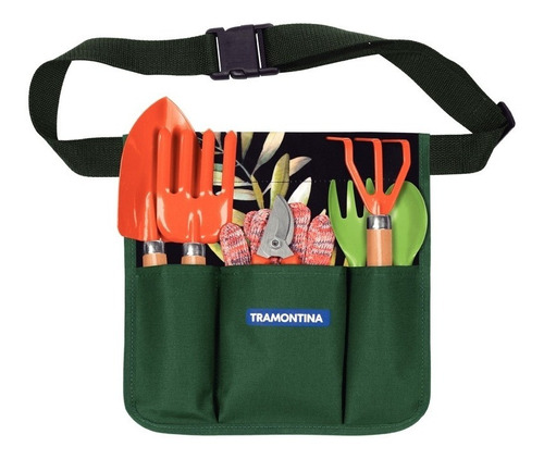 Imagen 1 de 2 de Kit Set Jardineria 8 Piezas Palitas + Cinturon Tramontina