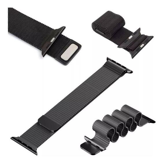 Pulseira Milanese Loop Para Rélogio Apple Watch 38mm E 44mm