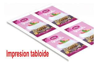 Impresión De Folletos Con Impresora Tabloide Hp 7110 + Ciss