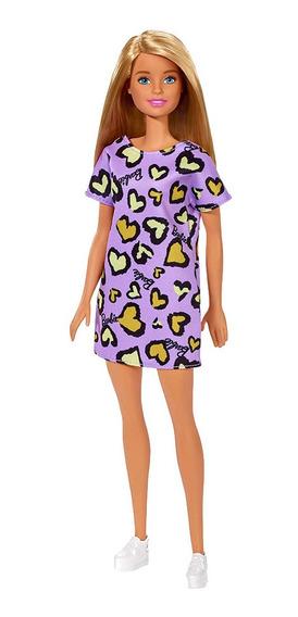 Barbie Barbie Básica - Vestido Morado Corazones