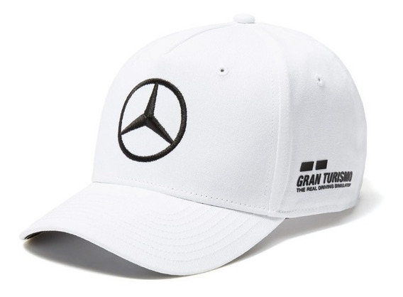 Gorra Lewis Hamilton Mercedes Amg Petronas F1 Curva Blanca