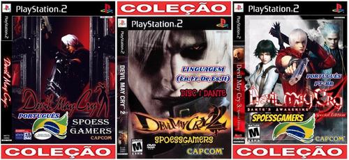 Devil May Cry Ps2 Coleção (3 Dvds) 1 E 3 Em Portugues Patch