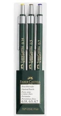 *black 3x Lapiseira Faber Castell Tk Fine 9760 .3 .5 .7