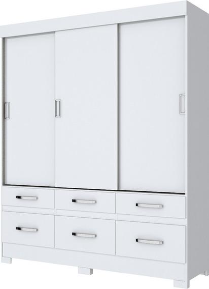 Guarda-roupa Casal B21 3p Desliazntes E 6 Branco(i)