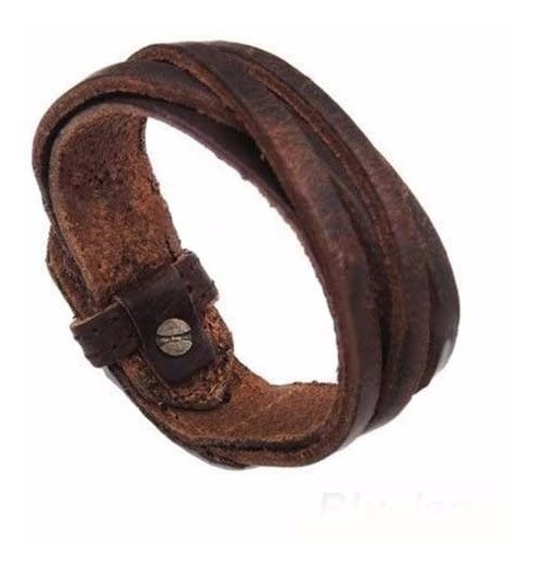 Bracelete Pulseira Masculina Couro Vintage Hipster