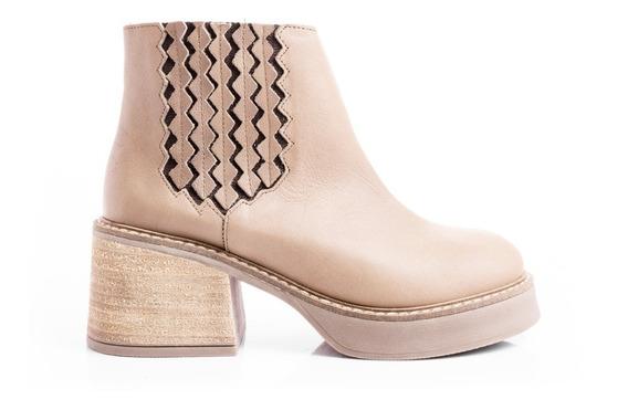 Borcegos Botas Zapatos Mujer Botitas Plataformas Cuero