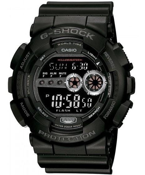 Relógio Casio Gd-100-1bdr Masculino Preto - Refinado
