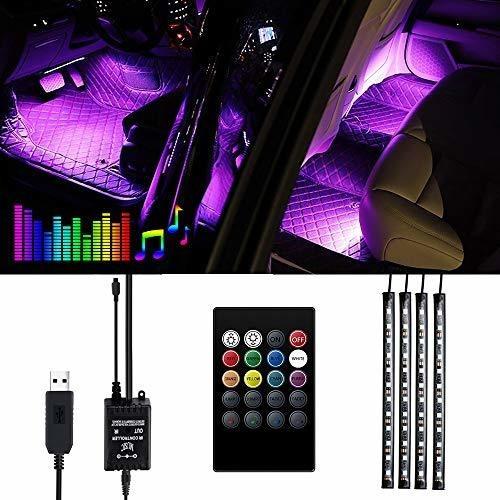 Imagen 1 de 7 de Luces Interiores Del Automovil - Luces Led Viden Para Tiras