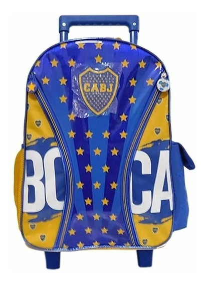 Mochila Boca Carro 18 C/ Logos Bo Oficial