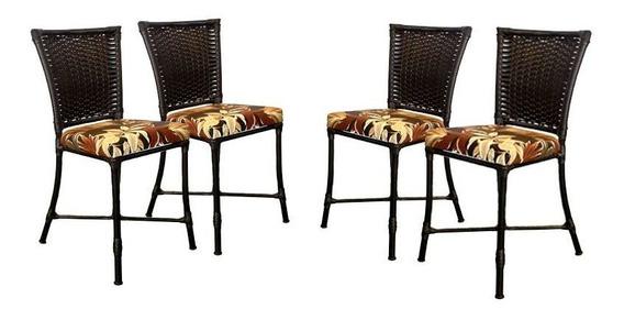4 Cadeiras Angra Em Ferro - Cozinha, Área E Sala