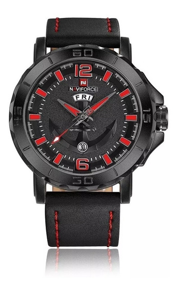 Relógio Masculino Fundo Ancora Da Marca Naviforce 9122