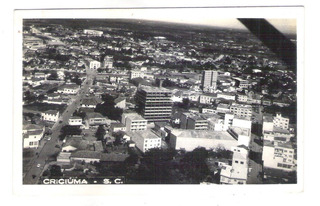 Foto Postal Antiga (2) Criciúma Vista Provável Anos 50