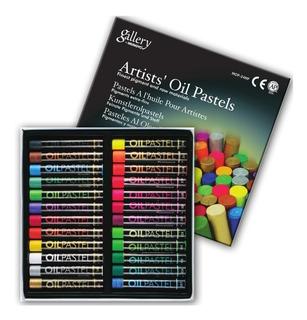 Oleo Pastel Gallery Mungyo 24 Colores Metalicos Y Neon