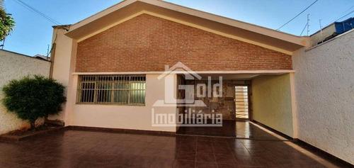 Imagem 1 de 21 de Casa Com 4 Dormitórios, 207 M² - Venda Por R$ 550.000,00 Ou Aluguel Por R$ 2.500,00/mês - Jardim Paulista - Ribeirão Preto/sp - Ca0642