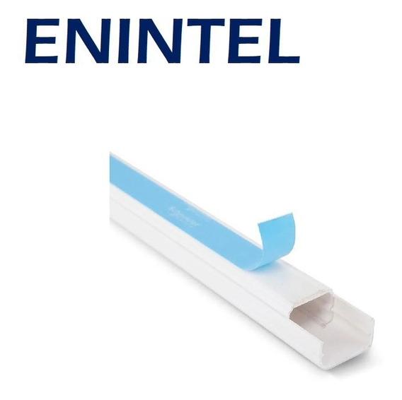 Enintel- Canaleta Plástica Adhesiva 10x10mm 2mts