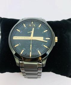 Relógio Masculino Armani Exchange Aço Preto Dourado Ax2121