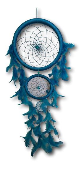 Filtro Dos Sonhos Com Penas Azul Turquesa Ref: 0136