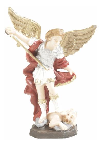 San Miguel Imagen Estatua Del Angel Arcangel Poliester 12cm