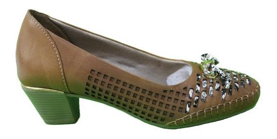Zapato Cuero Mujer Combinado Art Lerma. Marca Claris Shoes