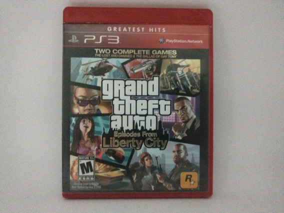 Jogo Ps3 Gta Grand Theft Auto Liberty City Mídia Física
