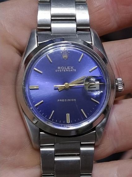 Relógio Rolex Precision 35/38mm Masculino Azul