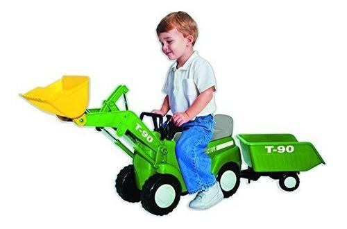 Skyteam Farm Tractor Con Big Scoop Y Trailer Rideon