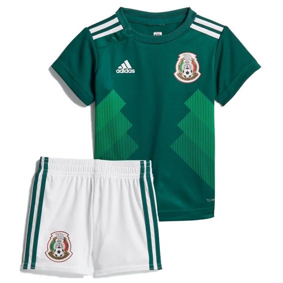 Conjunto Playera Con Short Mexico 2018 Bebe adidas Bq4690