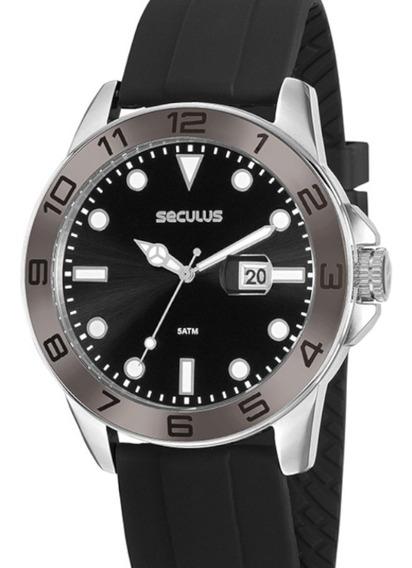 Relógio Seculus Masculino Esportivo Prova D´água Original Nf