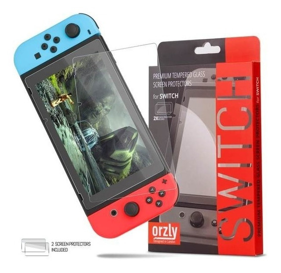 Cristal Mica X2 Nintendo Swicth Vidrio Protector Orzly