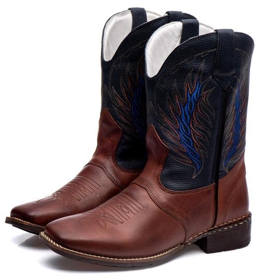 Bota Texana Americana Masculino Em Couro Frete Grátis Outlet