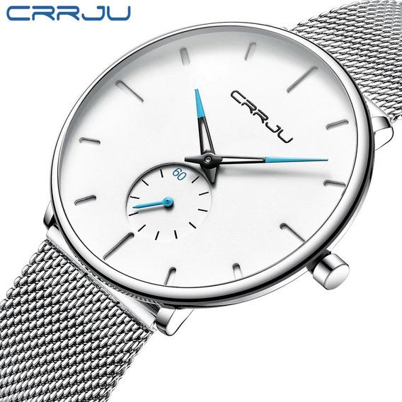 Frete Grátis Relógio Masc. Social Crrju 2150 Pronta Entrega